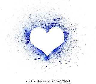 Grunge heart, ink splatter.made myself
