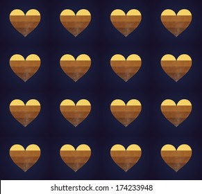 grunge Hearts - seamless pattern
