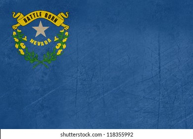 Grunge illustration of Nevada state flag of America.