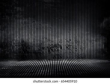 grunge iron striped interior background