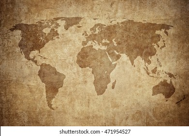 Grunge world map background rose compass stock illustration 97346507 grunge map of the world gumiabroncs Gallery