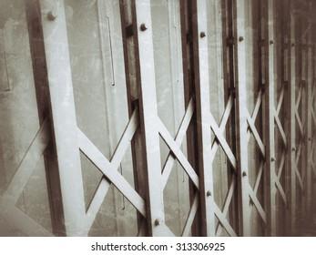 Grunge metal fence background