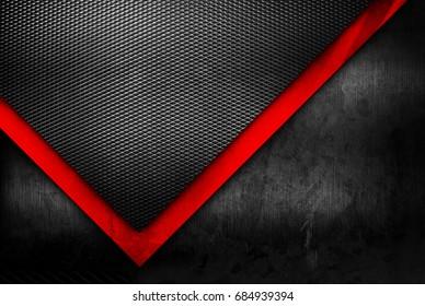 grunge metal with mesh pattern background