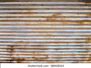 grunge metal shutter gate