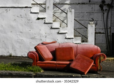 grunge old couch