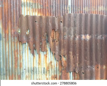 Grunge old dirty corrosion stain on the old zinc texture background