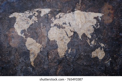 3d illustration stone relief world map stock illustration 498382222 grunge old map background gumiabroncs Gallery