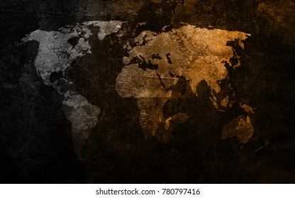 Grunge old map background