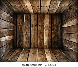 in Grunge old wood box texture background