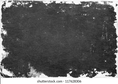 grunge paper texture, border and background