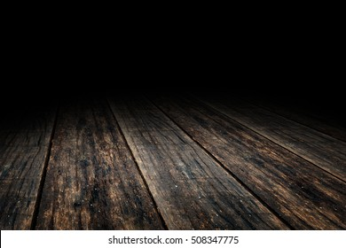 Grunge Plank wood floor texture perspective background for display or montage of product,Mock up template for your design