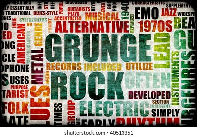 Grunge Rock Music Poster Art as Background