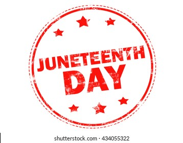 Grunge rubber stamp with text - Juneteenth day