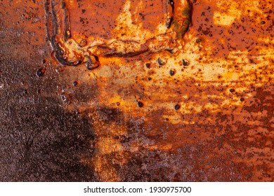 Grunge rusted metal texture. Rusty corrosion and oxidized background. Worn metallic iron rusty metal background