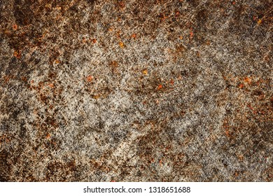 Grunge rusty metal surface. Industrial scratched dirty backdrop for graphic design.