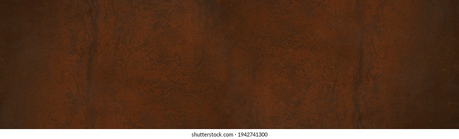 Grunge rusty orange brown metal steel stone background texture banner panorama
