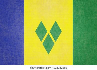 Grunge Saint Vincent Grenadines Flag