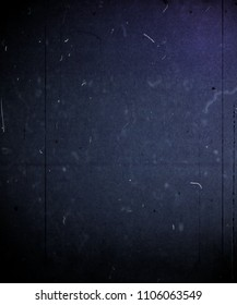 Grunge scratched blue background, old film effect