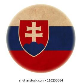 grunge Slovakia flag drawing button