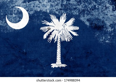 Grunge South Carolina State Flag