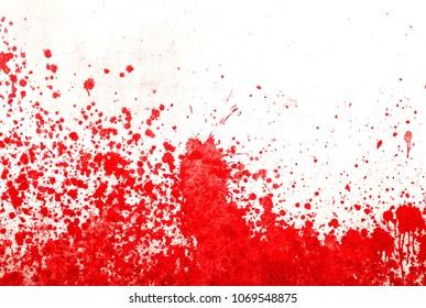 Grunge splatter paint on white background