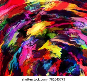 Grunge stained rainbow abstract background for web design