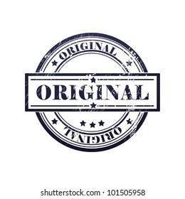 grunge stamp with original  text