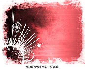 Grunge style background with ornate decoration