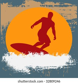 Grunge Surfer Bitmap Background