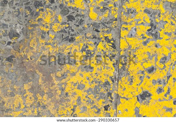 Grunge Terrazzo Floor Grunge Yellow Paint Stock Photo Edit