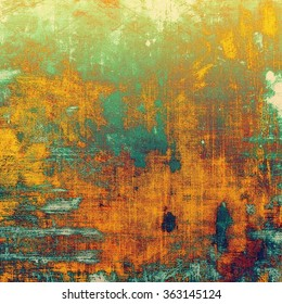 Grunge texture or background with space for text. With different color patterns: yellow (beige); brown; blue; green; red (orange)