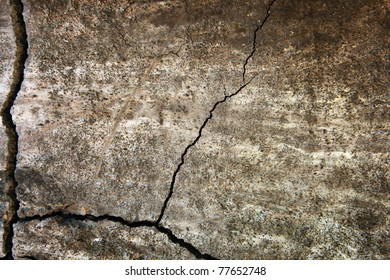 grunge texture of cracked wall surface