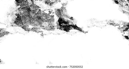 Grunge texture cracks, chips, stains. Abstract pattern of black and white printed items