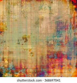 Grunge texture. With different color patterns: yellow (beige); brown; blue; red (orange); pink