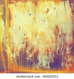 Grunge texture with retro design elements. With different color patterns: yellow (beige); brown; purple (violet); red (orange); pink