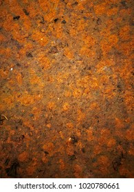 Grunge texture of very old rusty metal plate