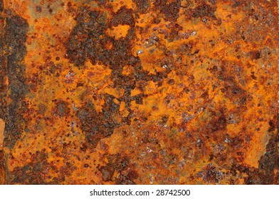 Grunge texture, weathered metal, rust and decay, high oxidation.