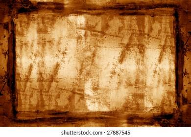 Grunge textured frame paper