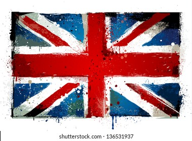 Grunge UK national flag.