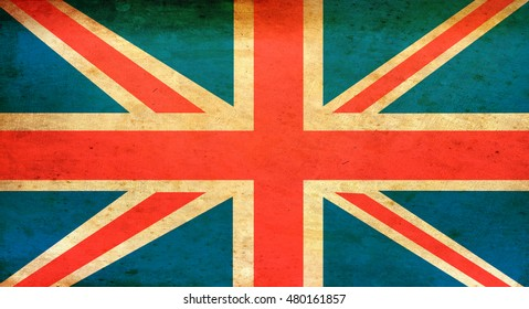 Grunge Union jack or British Flag