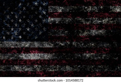 Grunge USA flag background