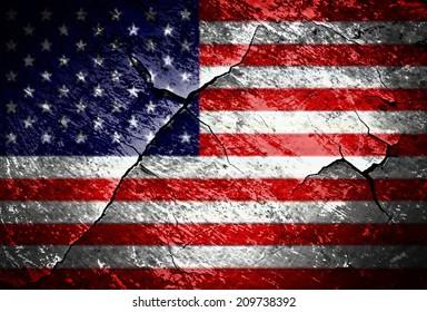 grunge USA flag texture
