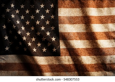 Grunge USA national flag background.