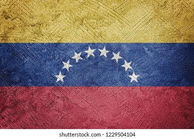 Grunge Venezuela flag. Venezuela flag with grunge texture.