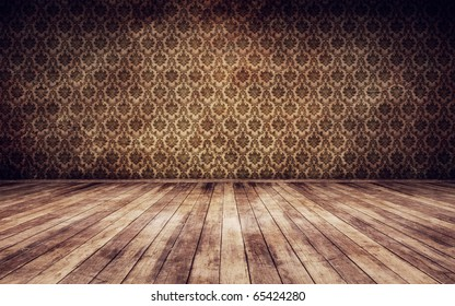 Grunge vintage interior background