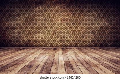 Grunge vintage interior background