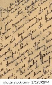 Grunge Vintage-Papier, strukturierter Hintergrund. Handgeschriebener Text