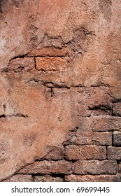 Grunge wall made of brick and mortar