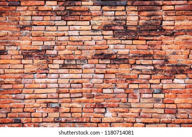 grunge weathered red brick wall vintage background.