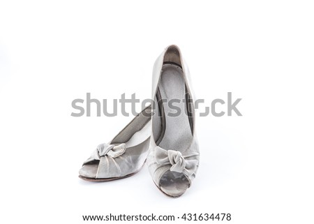 grunge women shoes on whit background stock photo edit now